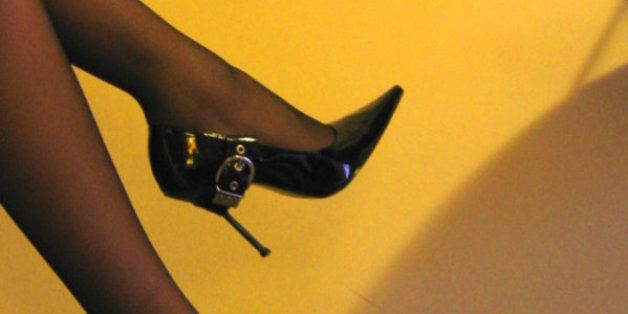 A stockings and heels picture taken with a compact camera during a chat with a good friend. This is also an excercise on how