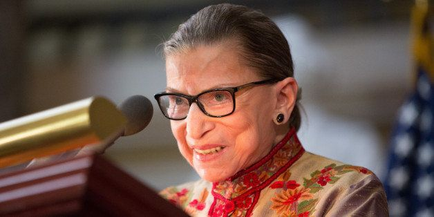 WASHINGTON, DC - MARCH 18: U.S. Supreme Court Justice Ruth Bader Ginsburg speaks at an annual Women's History Month reception