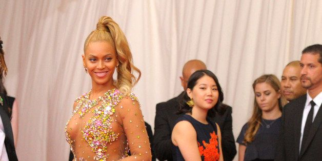 "Beyonce arrives at The Metropolitan Museum of Art's Costume Institute benefit gala celebrating ""China: Through the Looking Gl"
