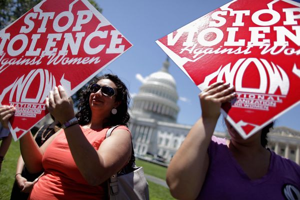 """NOW lobbied for four years to pass the <a href=""""https://www.whitehouse.gov/sites/default/files/docs/vawa_factsheet.pdf"""" targe"""