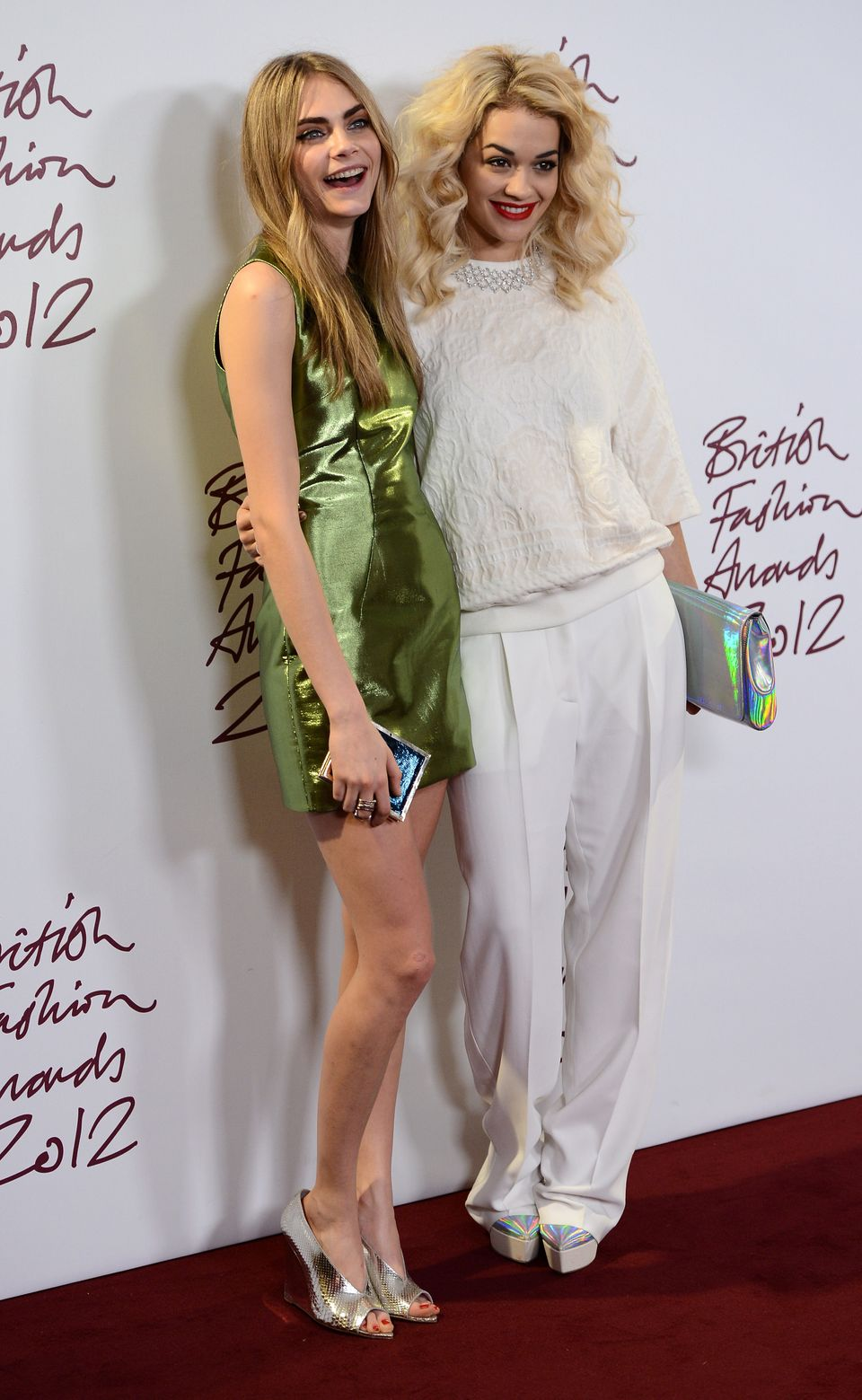 1. Her bezzie mate is Rita Ora. The pair are so close that Cara refers to her as her 'wifey'.