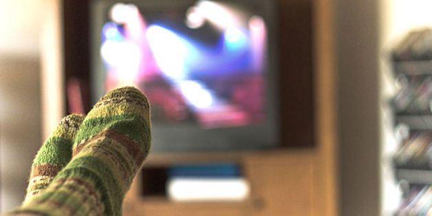 Watching tv bokeh