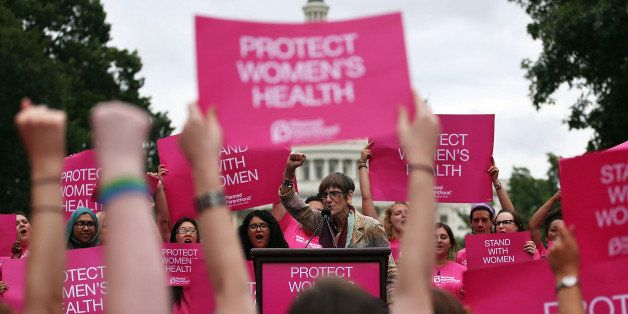 WASHINGTON, DC - JULY 11:  Rep. Rosa DeLauro (D-CT) speaks during a women's pro-choice rally on Capitol Hill, July 11, 2013 i