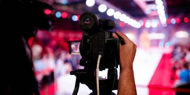 television broadcast of a fashion show