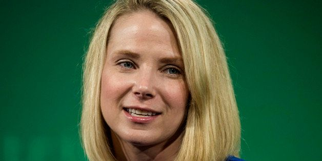 Marissa Mayer, president and chief executive officer at Yahoo! Inc., speaks during the 2015 Bloomberg Technology Conference i