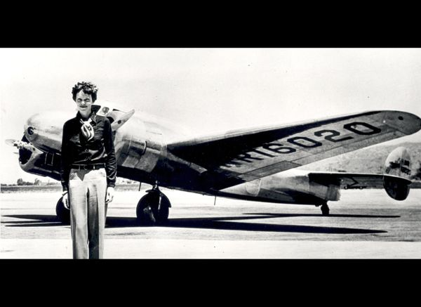 Amelia Earhart was the first woman to fly solo from the coast to coast, across the Atlantic, and the first pilot to fly solo