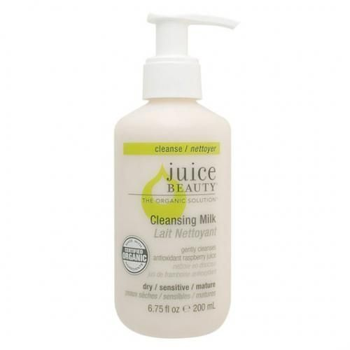 We love this daily cleansing milk from Juice Beauty, one of our fave certified organic brands. It simply cleanses, tones and