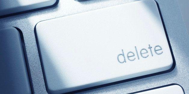 Close-up of delete key on computer keyboard.Similar images -
