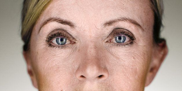 """Part of a """"Martin Schoeller look alike"""" family portrait series. She's my wife's mother. And already a grandmother."""