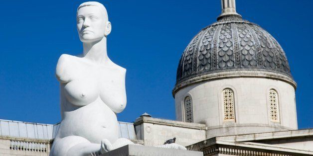 GREAT BRITAIN - MARCH 12: Alison Lapper Pregnant sculpture by Marc Quinn in Trafalgar Square, London, United Kingdom (Photo by Tim Graham/Getty Images)