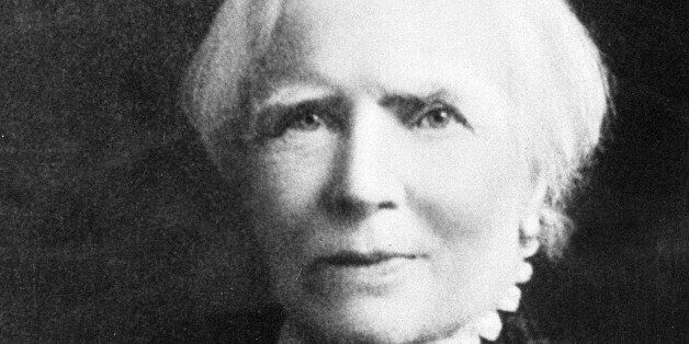 British-American physician Elizabeth Blackwell, the first woman to receive a medical degree in the United States, is shown in