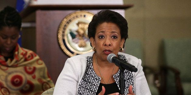 WASHINGTON, DC - JUNE 22:  U.S. Attorney General Loretta Lynch speaks during the quarterly meeting of the Coordinating Counci