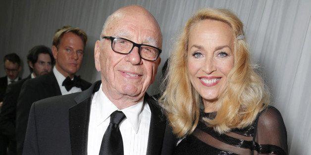 Rupert Murdoch and Jerry Hall seen at Twentieth Century Fox Golden Globes Party on Sunday, Jan. 10, 2015, in Beverly Hills, C