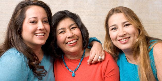 Portrait of smiling women