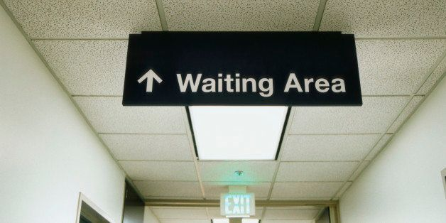 Waiting Room Sign in Corridor