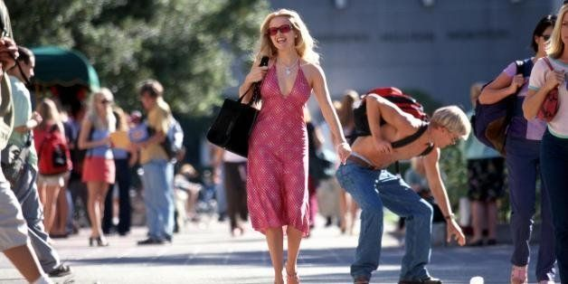 384593 09: Actress Reese Witherspoon acts in a scene from Metro-Goldwyn Mayer Pictures'' comedy 'Legally Blonde.',(Photo by T
