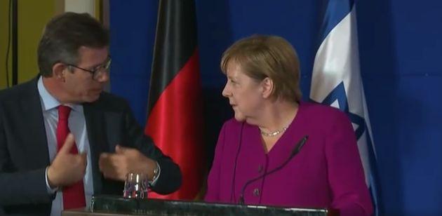 Chaos bei Merkel-PK in Israel: Dolmetscherin flucht, Kanzlerin irritiert