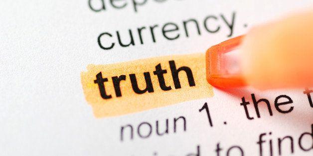 orange marker on truth word