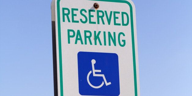 handicap reserved parking signs