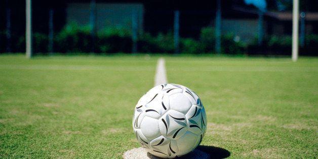 Soccer ball and goal