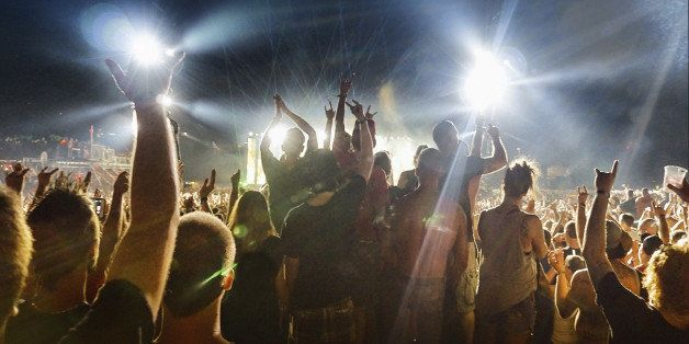 Music concert and crowd. Shot at 1600 iso, grainy…. still print very nicely