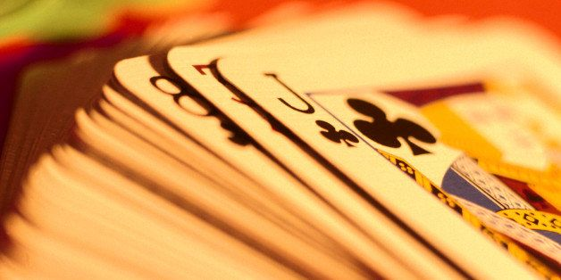 Close Up Of A Deck Of Cards