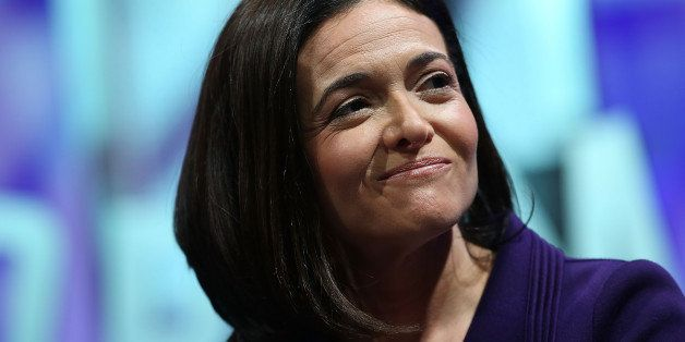 SAN FRANCISCO, CA - NOVEMBER 03: Facebook COO Sheryl Sandberg speaks during the Fortune Global Forum...