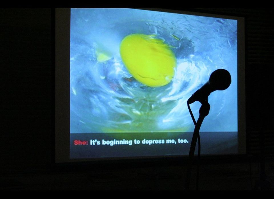 """Eric Kraft's karaoke fiction project at The Center for Fiction  <a href=""""http://www.flickr.com/photos/centerforfiction/6347"""