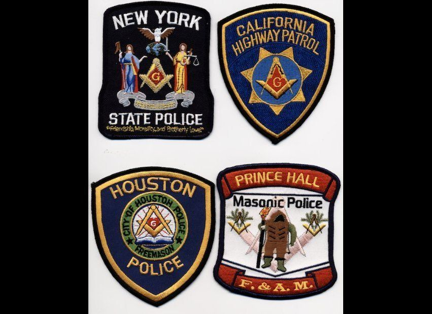 Various Masonic police badges