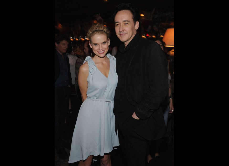 NEW YORK, NY - APRIL 16:  Actors Alice Eve and John Cusack attend 'The Raven' New York Red Carpet Screening After Party Prese
