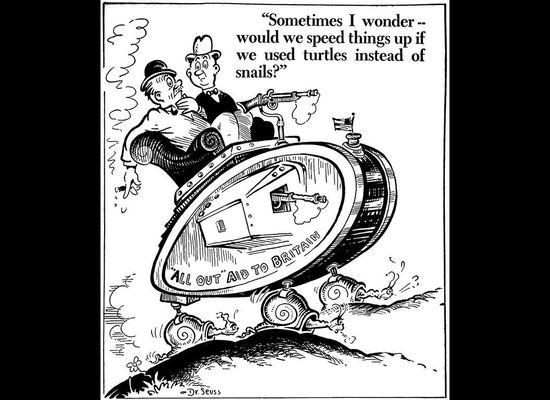 Dr  Seuss World War II Cartoons Reflect Author's Politics