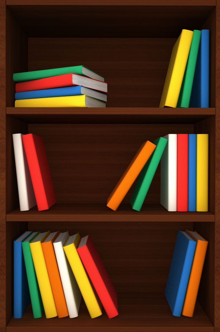 3d wooden shelves background...