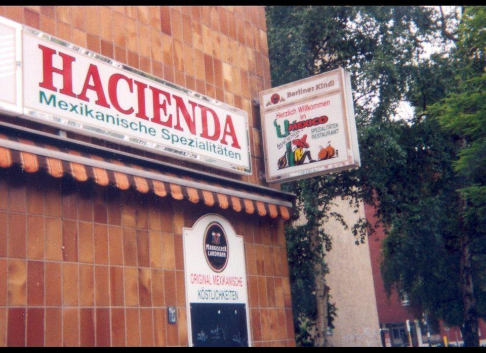 Ich bin ein burrito. Tex-Mex restaurant in Berlin, 1999. Many German-Mexican restaurants were notable for their vegetarian em