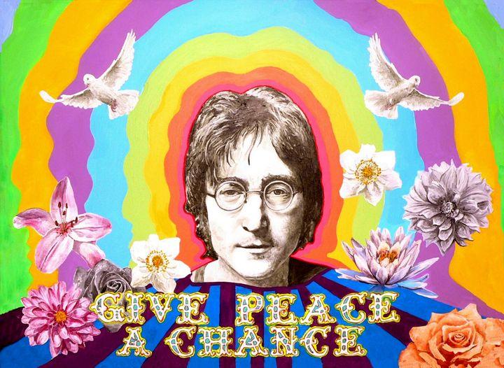 description 1 Portrait of John Lennon by Stuart Hampton- to see more visit www. stuarthampton. blogspot. com Peace and love :) | date 2012-06- ...