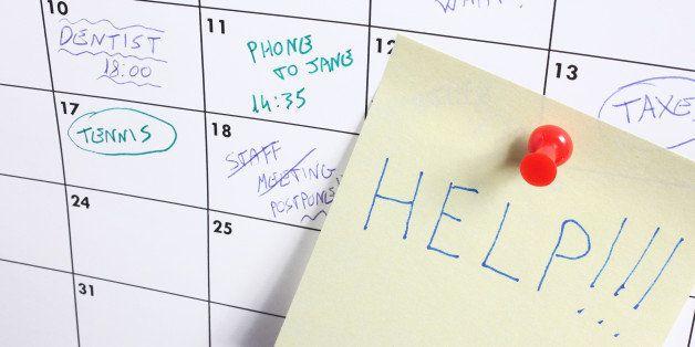 "word ""help"" on calendar"
