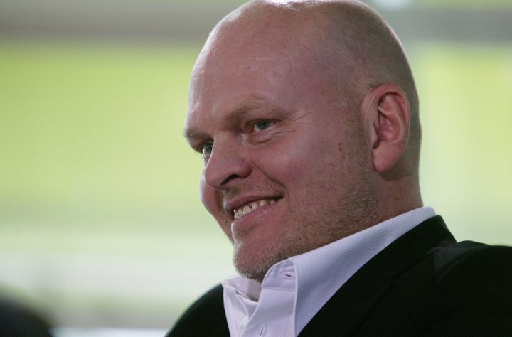 FRANKFURT, GERMANY - OCTOBER 08:  Author Hallgrimur Helgason smiles during the Frankfurt book fair on October 8, 2006 in Fran
