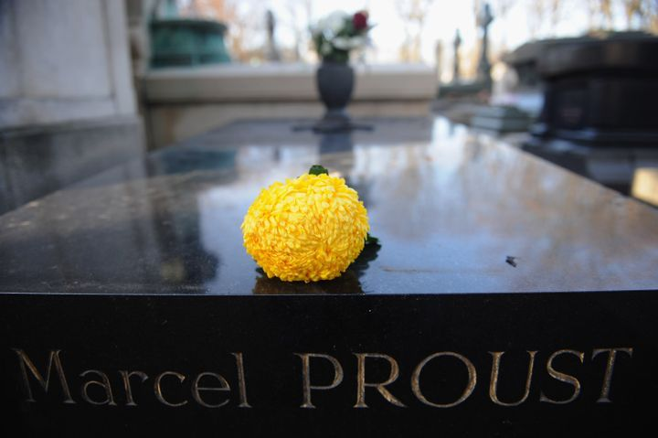 PARIS, FRANCE - NOVEMBER 29: The grave of French writer Marcel Proust stand at Cimetierre du Pere Lachaise on November 29, 2011 in Paris, France. (Photo by Antoine Antoniol/Getty Images)