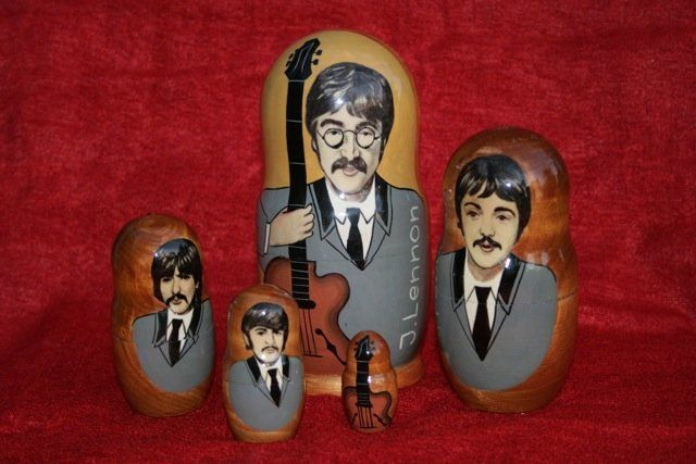 Beatles matrioshki dolls, on sale near Red Square.