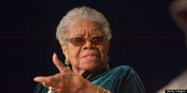 WASHINGTON, DC - FEBRUARY 01:  Dr Maya Angelou speaks with Jonnetta Betsch Cole as part of the Smithsonian National Museum of