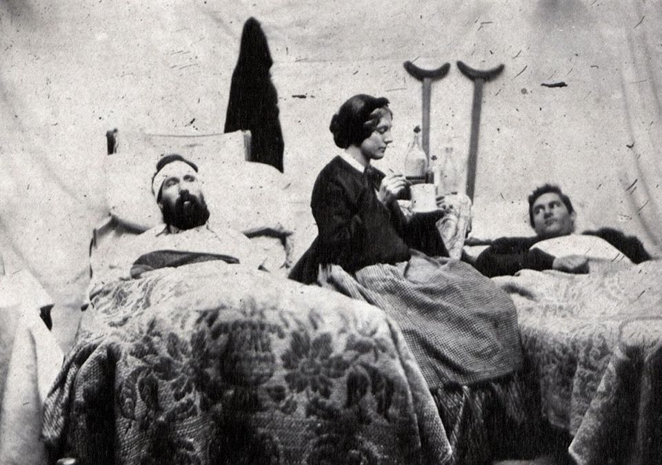 During the Civil War, women, like Annie Bell who nursed soldiers after the Battle of Nashville in 1864, tended to troops with