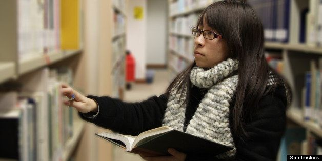 an asian girl who is finding...