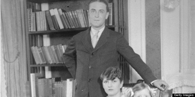 Family portrait of the writer F Scott Fitzgerald (1896 - 1940), his wife Zelda (1900 - 1948), and daughter Frances 'Scottie'