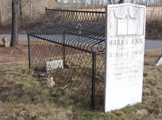 Protection from grave robbers, especially medical students, is the reason most commonly suggested for the cages over two grav