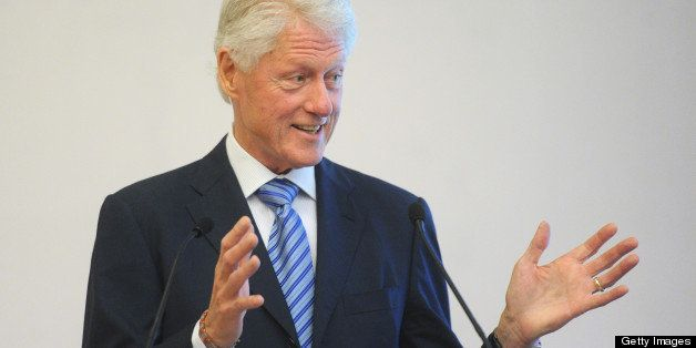 NEW YORK, NY - MAY 30:  Former US President Bill Clinton speaks at the Segal Family Foundation Meeting On Africa at Lighthous