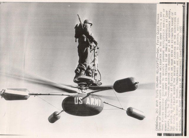 Early Individual Lift Devices started out rather pedestrian. The De Lackner was pretty much an upside-down helicopter but the