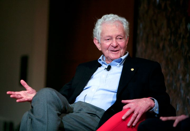 Nobel Prize winning physicist Leon Lederman speaks at the panel discussion 'Pioneers in Science' at the World Science Festival held at CUNY on May 29, 2008, in New York City.