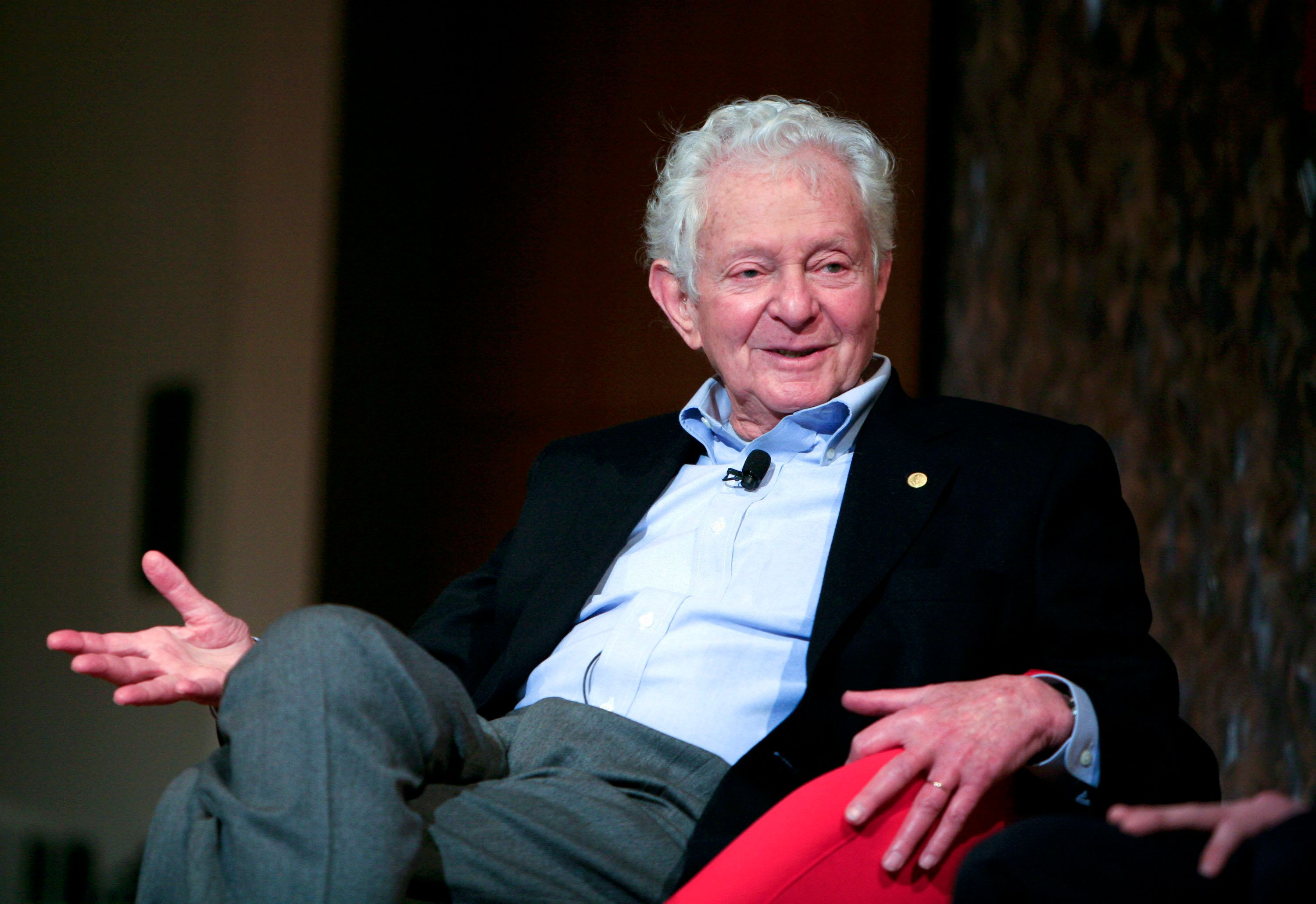 Nobel Prize winning physicist Leon Lederman speaks at the panel discussion 'Pioneers in Science' at the World Science Festiva