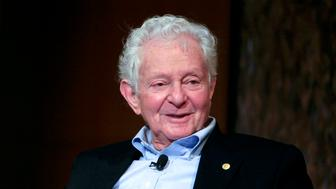 NEW YORK - MAY 29: Nobel Prize winning physicist Leon Lederman speaks at the panel discussion 'Pioneers in Science' at the World Science Festival held at The Graduate Center, Proshansky Auditorium, CUNY on May 29, 2008 in New York City.  (Photo by Amy Sussman/Getty Images for World Science Festival)