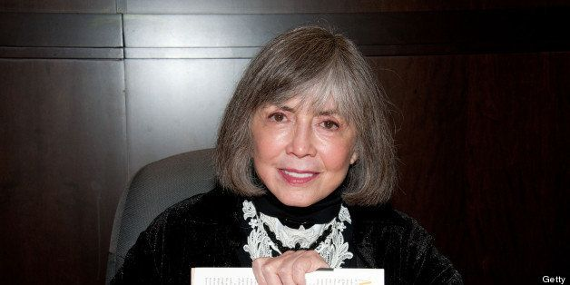 LOS ANGELES, CA - FEBRUARY 17:  Writer Anne Rice signs copies of her book 'The Wolf Gift' at Barnes & Noble bookstore at The