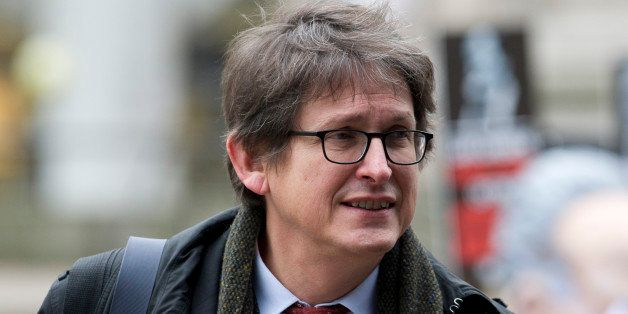 Guardian editor-in-chief, Alan Rusbridger, arrives to attend the publication of the Leveson Report into press ethics in centr